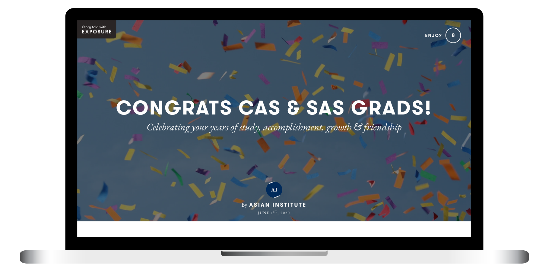 Asian Institute Website to Congrat Convocation 2020