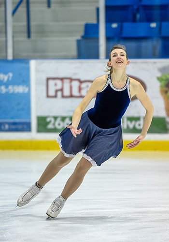 Eadie skating competitively.