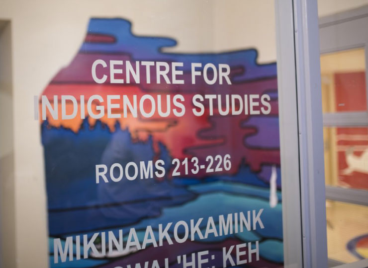 A sign for indigenous studies.