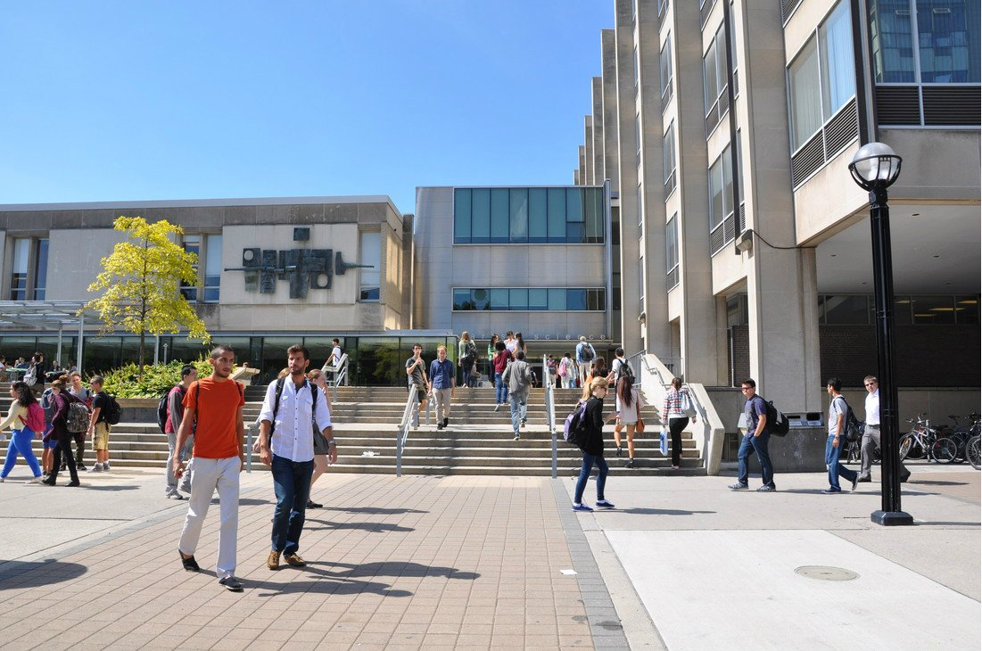Exterior photo of Sidney Smith Hall