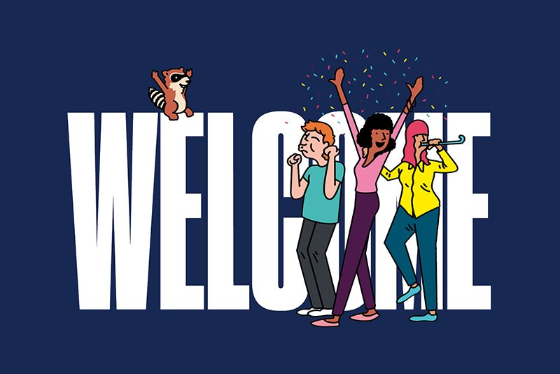Welcome New Students Illustration by Sam Island