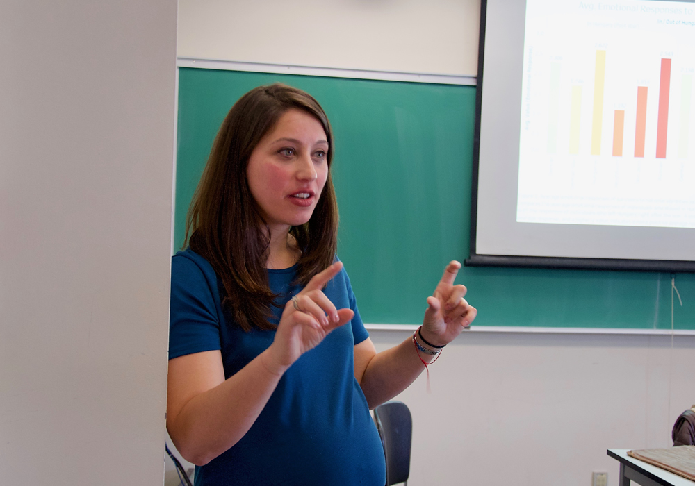 Alexis Lerner teaching her class