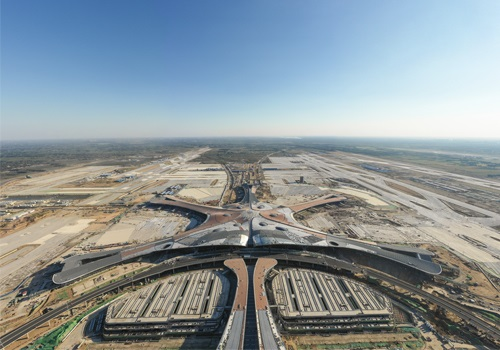 aerial view of Beijing airport