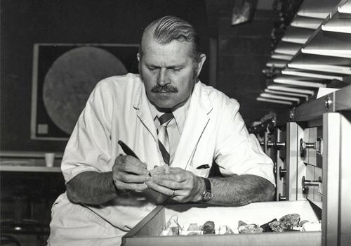 Donald Gorman inside a lab.