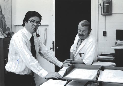 Professor Ed Spooner with Donald Gorman.