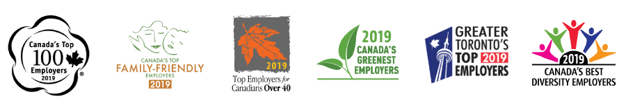 Images of Canada's Top Employer awards.