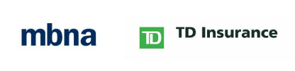 Three logos including Manulife, mbna and TD Insurance.