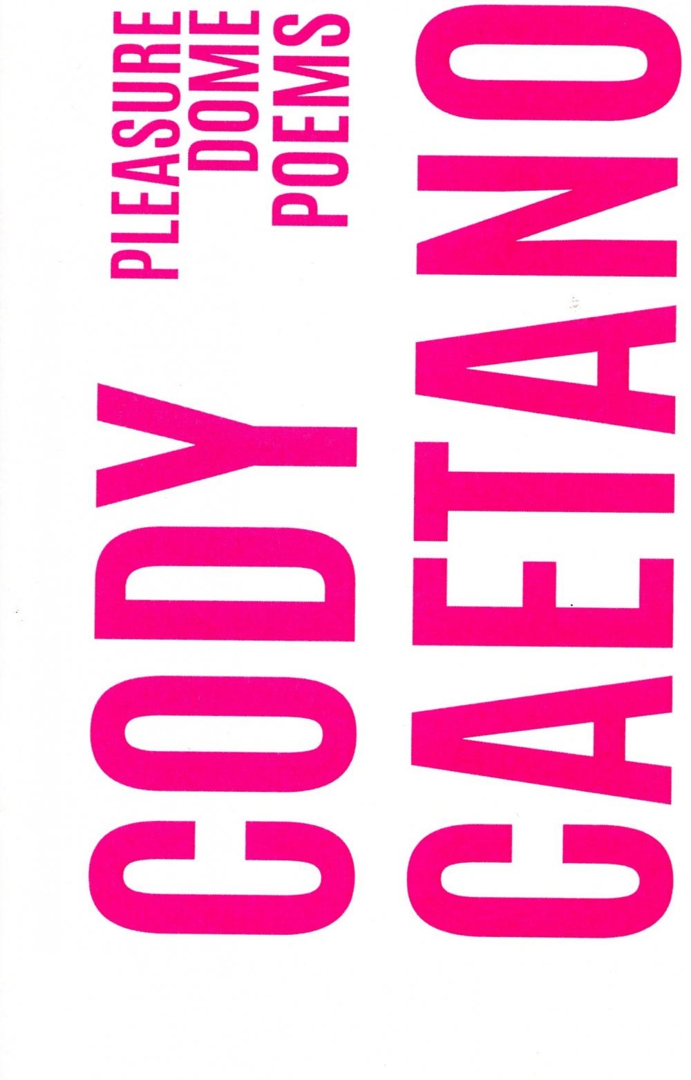 Pleasure Dome Poems Book Cover