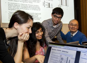 Professor William Ju and his students