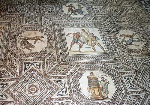 A 3rd century A.D. mosaic depicting olympic sports