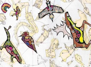 The Ojibwe sky star map, also known as the 'Ojibwe giizhig anung masinaaigan'