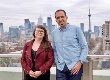 Danielle Taschereau Mamers and Amir Khadem.