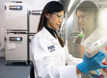 A person in a lab.