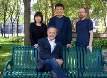 Matthew Timm,  Lydie Leung, John Polanyi and Kelvin Anggara.
