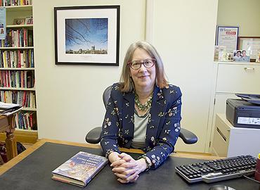 Sylvia Bashevkin at her desk