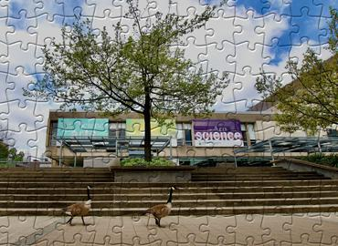 Sidney smith building in puzzle pieces.