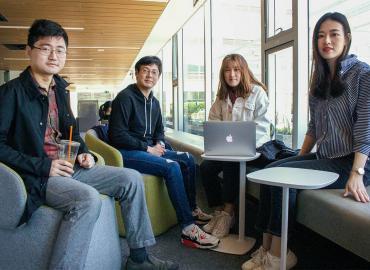 Left to Right: Kangdi Yang, Yaru Yang, Qiwen Zhao and Yuxuan Zhang of U of T's department of statistical sciences.