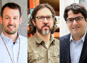 From left to right: U of T researchers Jean-Philippe Julien, David Evans and Daniel De Carvalho are being recognized for demonstrating a high level of achievement in their careers to date.