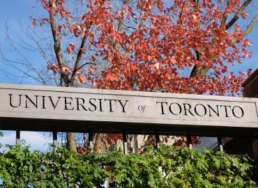 University of Toronto Gate Sign