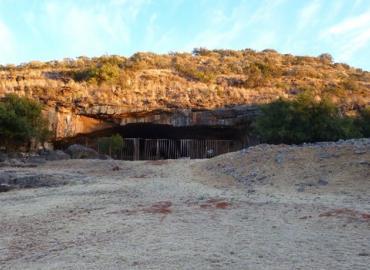 Modern entrance to Wonderwerk Cave