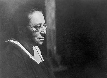 Black and white photo of algebraist Amalie 'Emmy' Noether