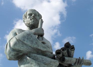 Aristotle a statue.