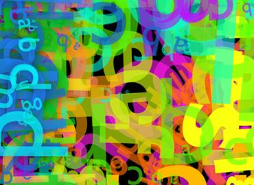 abstract colourful letters