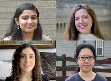 Profile pictures of Aparna Balagopalan, Skylar Hao, Gabriela Morgenshtern and Lana El Sanyoura.
