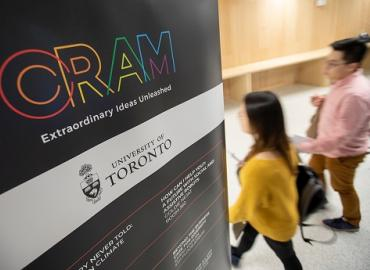 Hundreds of people came to listen to the ideas of University of Toronto researchers at the CRAM festival on Friday evening. All photos: Nick Iwanyshyn.
