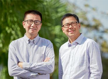 Composite of David Wong and Johnny Cheung.