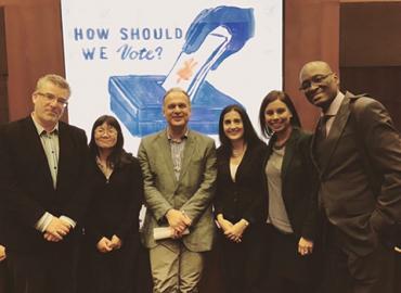 Left to right: Craig Scott, Avvy Go, Markus D. Dubber, Yasmin Dawood, Ruby Sahota and Royson James.