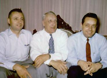 Ernest Goggio with father Emilio and brother Alfred.