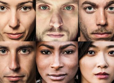Collection of diverse people headshots.