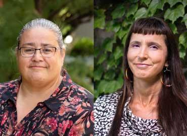 Susan Hill (left), Suzanne Stewart (right).