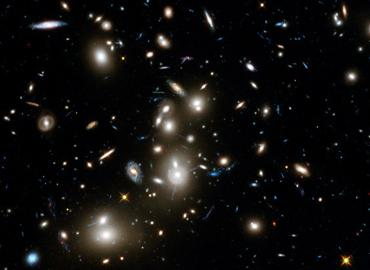 Hubble Space Telescope image of a cluster of galaxies