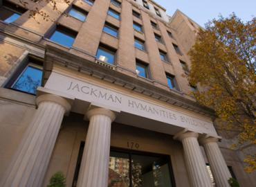 The exterior of the Jackman Humanities Institute