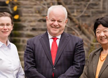 Susanne Ferber, Martin Seligman and Fay Tang.