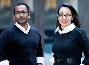 Composite of Fazila Seker and Ananth Ravi.