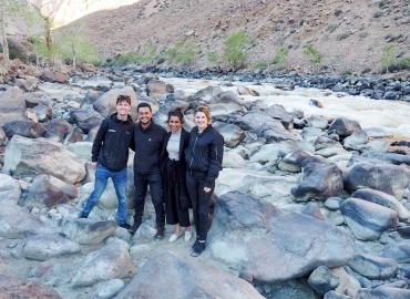 Ben Sprenger (left) and Rushay Naik (second from left) in Mongolia with a research team