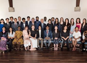 Group photo of this year's Pearson scholars