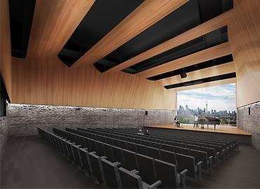 A fifth-floor rendering of a recital hall in the proposed Centre for Civilizations, Cultures & Cities building