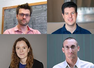 David Curtin, Department of Physics; Roger Grosse, Department of Computer Science; Tovi Grossman, Department of Computer Science; and Sophie Rousseaux, Department of Chemistry.