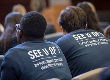 Two students attending the See U of T program