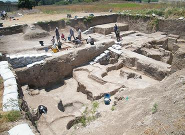 An archeological site.