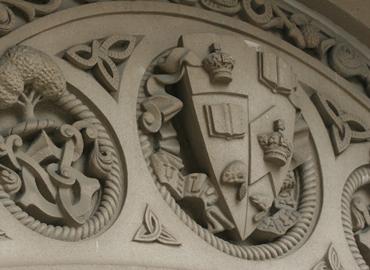 U of T stone crest.