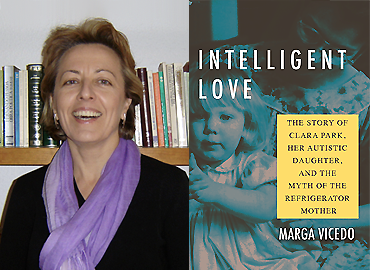 Composite of book cover and headshot of Marga Vicedo