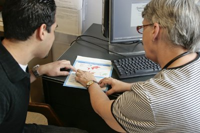 student receives support from an advisor