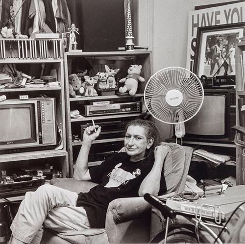 Black and white portrait of Sylvia Rae Rivera.