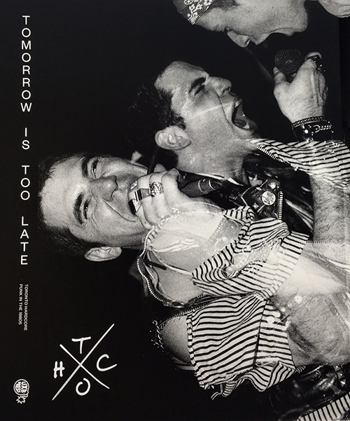The cover of Tomorrow is Too late, with three faces in black and white.